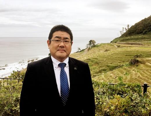 2016年10月25日 白米千枚田にて(農林水産委員会視察)