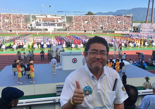 2017年9月30日 愛媛国体開会式にて